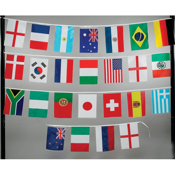 Multi National Bunting Flag