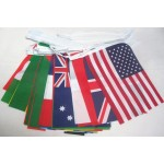 World Countries String Flag