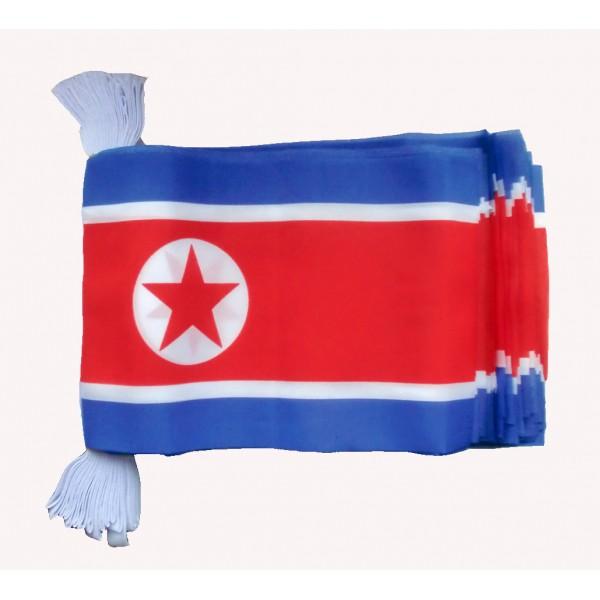 North Korea Bunting Flag