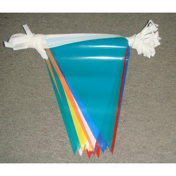 PE Colorful Bunting Flag