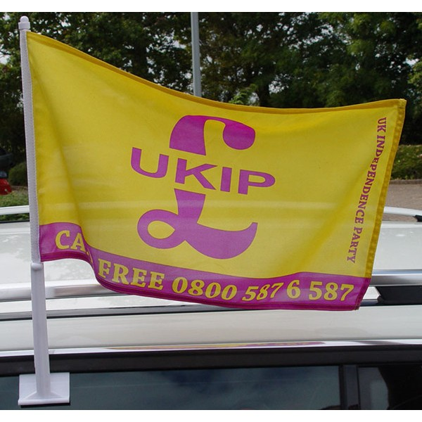 Custom Printed Polyester Car Flags